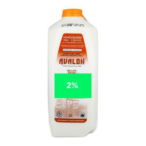 Valley Pride 2% Milk, 2L Jug – 9/cs