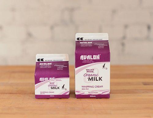 Valley Pride Organic Whipping Cream, 250mL – 48/cs