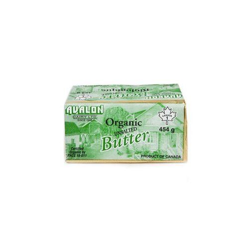 Avalon Organic Butter, Un-Salted 454g – 10/cs
