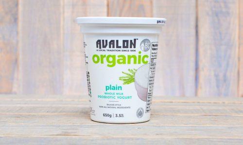 Avalon Organic Plain Yogurt, 650g – 6/cs