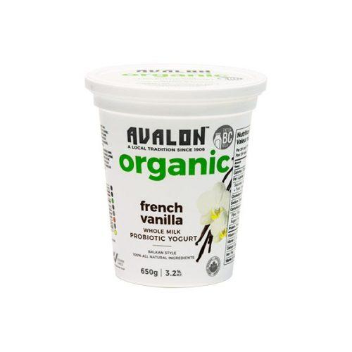 Avalon Organic French Vanilla Yogurt, 650g – 6/cs