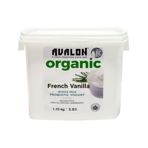 Avalon Organic French Vanilla Yogurt (Family St), 1750g – 6/cs