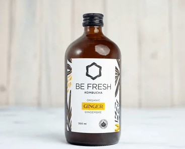 Be Fresh Organic Kombucha, Ginger – 500 ML – 16/cs